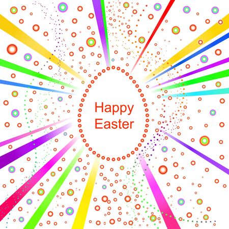 Multicolored Happy Easter background Vector