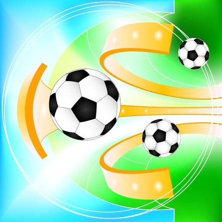 sport equipment: Abstract soccer ball  background Illustration