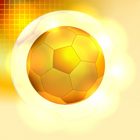 Golden soccer ball background Illustration