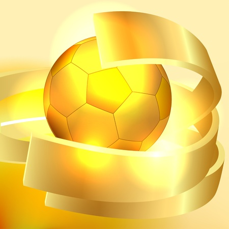 Gold soccer ball background Vector