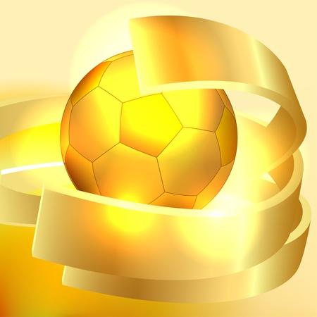 Gold soccer ball background Vector