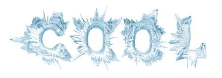 IJskristal letters het woord - Cool Stockfoto