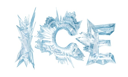 Ice crystal letters  The Word - Ice Stok Fotoğraf