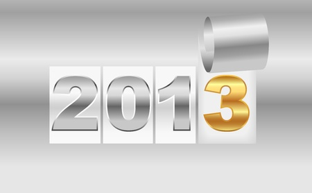 detachable: New Year s  2013 metallic background Illustration