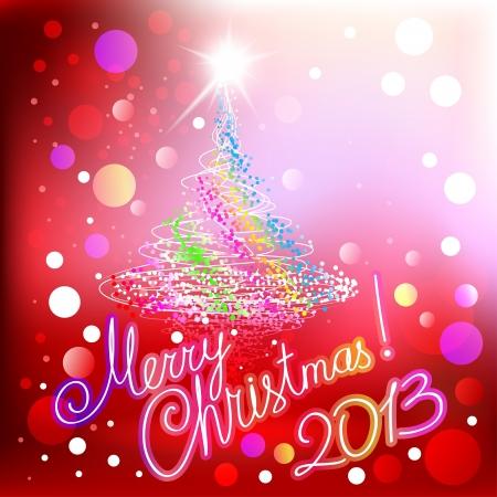volute: Buon Natale 2013 sfondo rosso