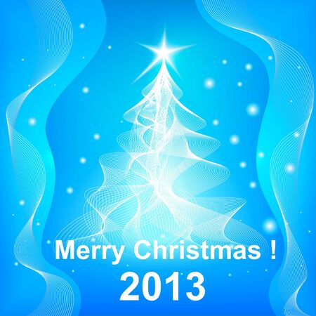 Christmas tree 2013 background Vector