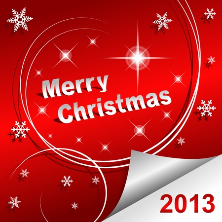 Merry Christmas 2013 red background Vector Illustration