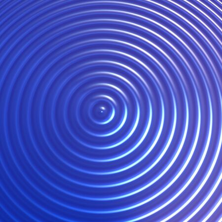 concentric: Abstract blue color concentric circles background Stock Photo