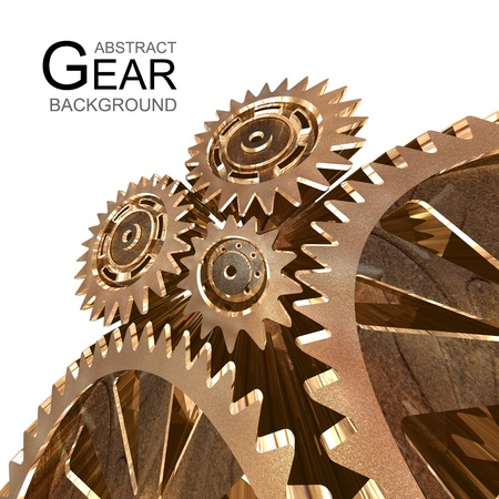 Abstract Grunge Gear Background photo