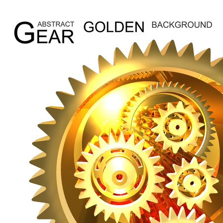 Abstract Golden Gear Background photo