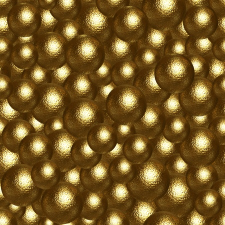 roughness: Abstract background of many golden balls  Ready for tile Stock Photo
