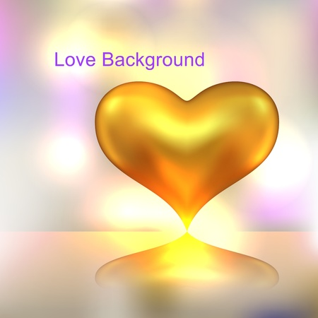 Golden heart background Stock Vector - 17756344