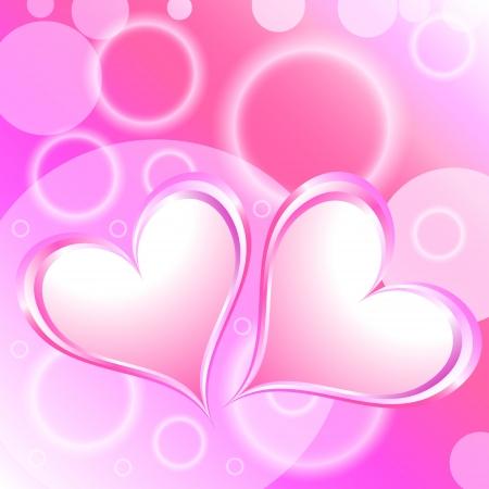 Pink Heart Shiny Holiday Background