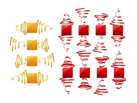 Collection of festive frames Stock Vector - 18012262