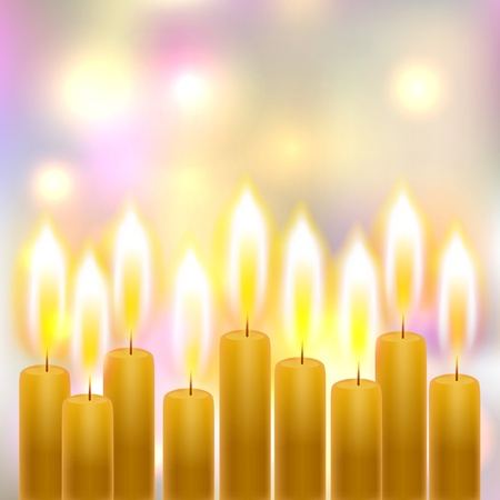 candle light: Burning candles on background with soft focus