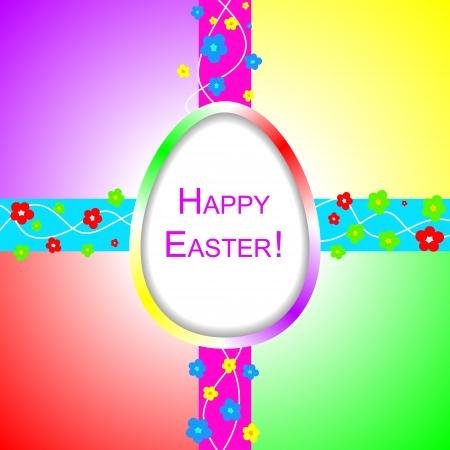 Happy Easter background with design elements Vector
