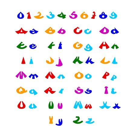 hilarious: Hilarious comic alphabet in different colors