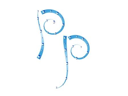 Fée aquatique alphabet isolé sur fond blanc. Lettre P Banque d'images - 18970434