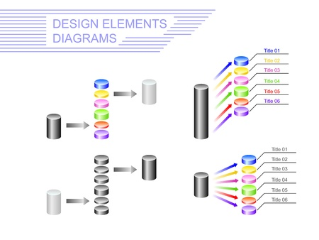 reckoning: Design elements. Diagrams  in the form of cylinders