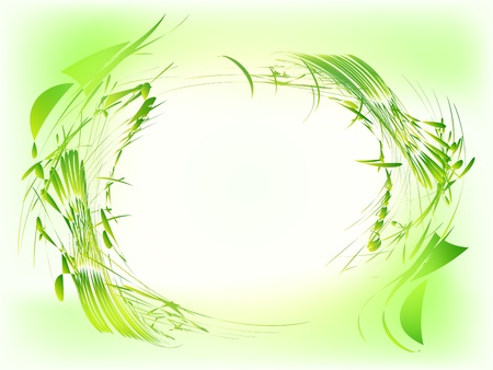 verdure: Abstract green grunge frame  Illustration