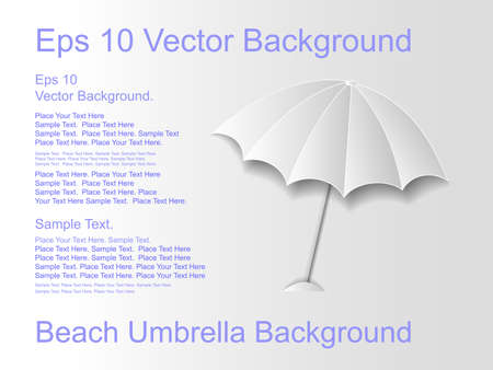 beach umbrella: Beach umbrella on a light background   Illustration