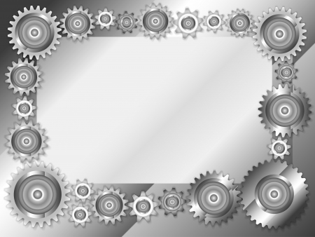 mechanical panel: Abstract technology frame  of mechanical gears