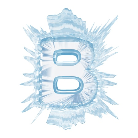 Isolate on white letter of the ice crystal font photo