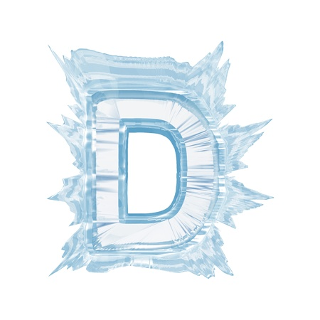Isolate on white letter of the ice crystal font Stock Photo
