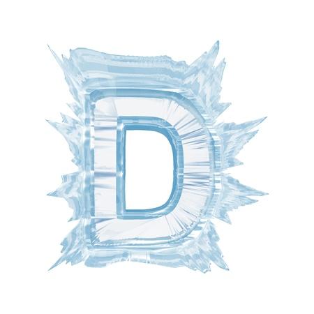 Isoleren op wit letter van het ijskristal lettertype