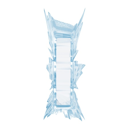 Isolate on white letter of the ice crystal font Archivio Fotografico