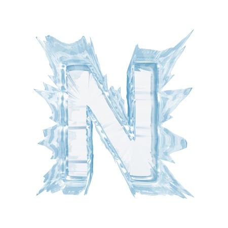 Aislar en letra blanca de la fuente de cristal de hielo Foto de archivo - 20305294