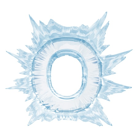 Isolate on white letter of the ice crystal font Stok Fotoğraf