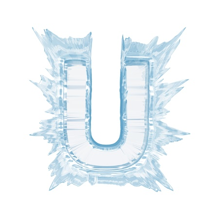 Isolate on white letter of the ice crystal font Stock Photo - 21584396