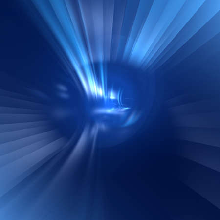 Abstract fantastic blue background with rays photo