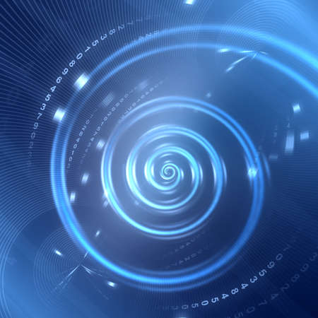 Abstract futuristic spiral blue background