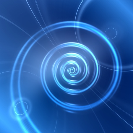 Abstract futuristic spiral blue background photo