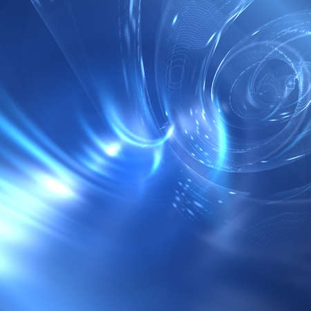 vigor: Abstract fantastic blue background with rays Stock Photo