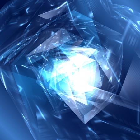 Abstract digital  futuristic polygonal background