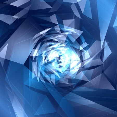 Abstract blue digital geometric background  photo