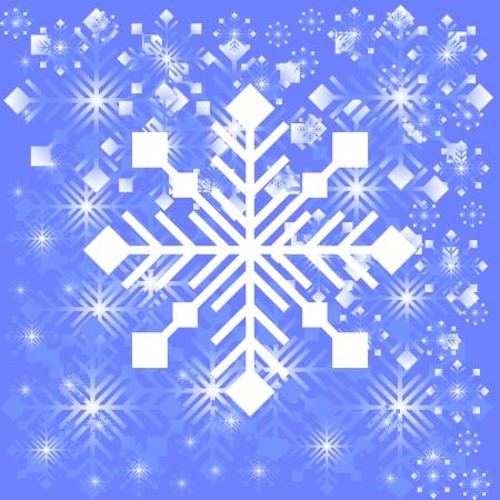 rejoicing: Fiocco di neve sfondo chiaro Vettoriali