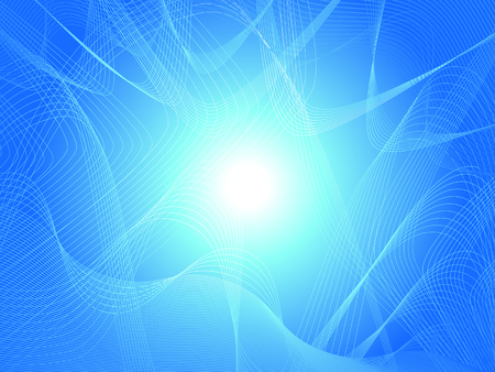 luminescence: Beautiful abstract blue rosette background