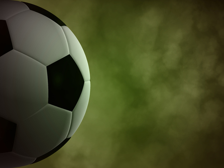 Soccer ball in the background of green smoke Stok Fotoğraf - 28615513