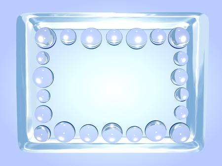 lucidity: Abstract ice photo frame with glass balls