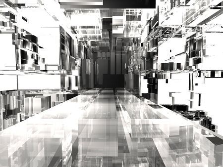 shop floor: Abstract space technology in the factory