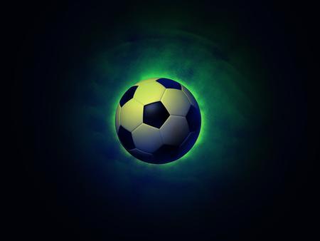 Soccer ball on a vigorously green background Stok Fotoğraf