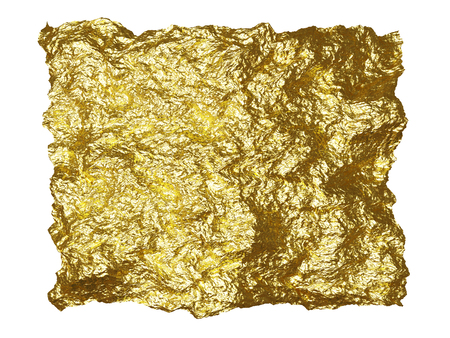 resplendence: Beautiful rough brilliant metallic texture from gold foil  Stock Photo