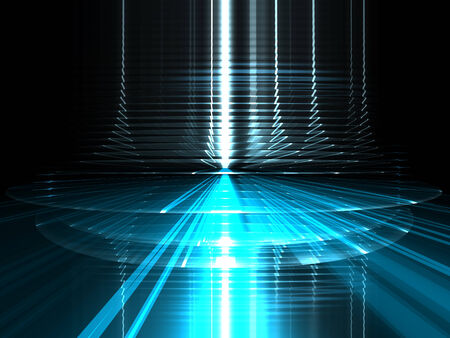 Abstract futuristic urbanism luminous background Stock Photo