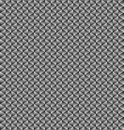 squamous: Abstract geometric black and white tile texture composed of equilateral triangles.