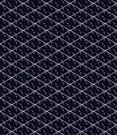 Abstract dark blue geometric  tile texture. Vector