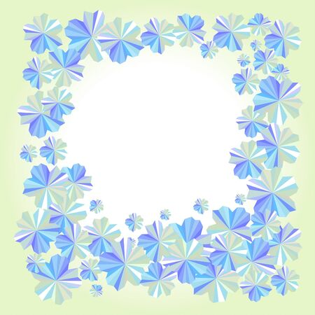 awaken: Abstract floral background with blue flowers Illustration